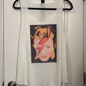 Unique Vintage David Bowie Tank size L NEW